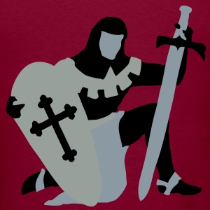 knight kneeling medieval Hoodies - Men's T-Shirt