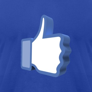 Facebook Thumbs Up Hoodie - Men's T-Shirt by American Apparel