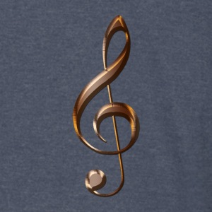 Music-lover Metallic-effect Treble Clef - Vintage Sport T-Shirt