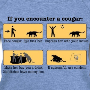 DIY Cougar Hunting - Women's Wideneck Sweatshirt