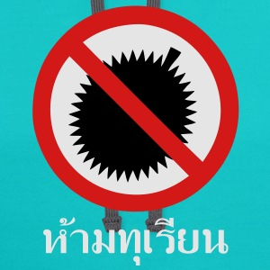 NO Durian Fruit Sign 2 / Thai Language White T-Shirts - Contrast Hoodie