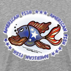 AMERICAN FISH, RED WHITE BLUE FISH, Jeans fish   - Men's Premium T-Shirt
