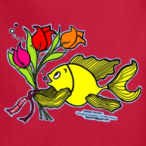 With Love, Fish with Flowers, Sparky the fish  - Adjustable Apron