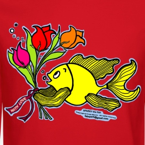 With Love, Fish with Flowers, Sparky the fish  - Crewneck Sweatshirt