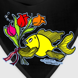 With Love, Fish with Flowers, Sparky the fish  - Bandana
