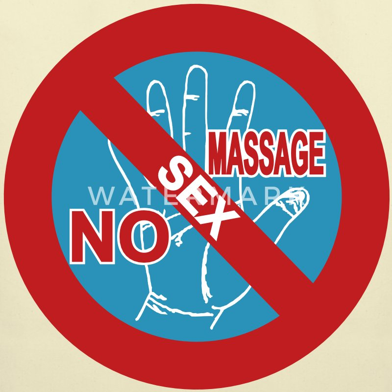 NO Sex Massage Sign - Eco-Friendly Cotton Tote