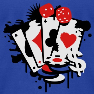 Card game hearts, spades, diamonds, clubs with dice and tokens Tanks - Men's T-Shirt by American Apparel