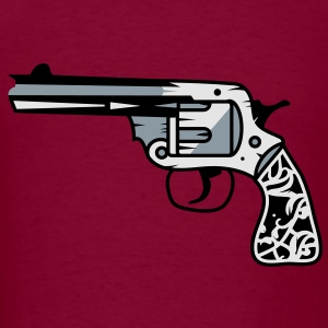 old revolver with ornamental decorations on the grip Hoodies - Men's T-Shirt