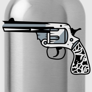 old revolver with ornamental decorations on the grip Kids' Shirts - Water Bottle
