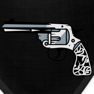 old revolver with ornamental decorations on the grip Bags  - Bandana