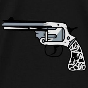 old revolver with ornamental decorations on the grip Bags  - Men's Premium T-Shirt