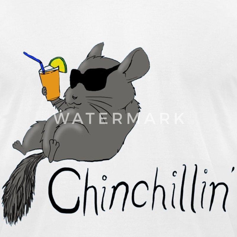 Chinchillin T-Shirts - Men's T-Shirt by American Apparel
