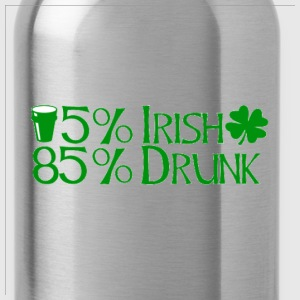 15% Irish 85% drunk - Water Bottle