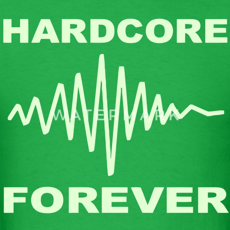 Hardcore music Forever Glow in the Dark T-shirt - Men's T-Shirt