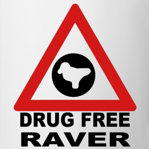 Drug Free Zone (Raver) T-shirt - Coffee/Tea Mug