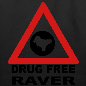 Drug Free Zone (Raver) T-shirt - Eco-Friendly Cotton Tote