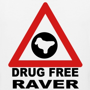 Drug Free Zone (Raver) T-shirt - Men's Premium Tank