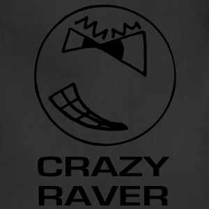 Crazy Raver Smiley Face Glow in the Dark T-shirt - Adjustable Apron