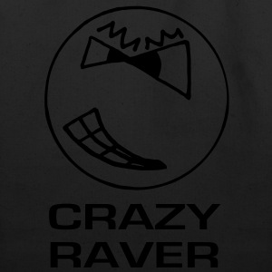 Crazy Raver Smiley Face Glow in the Dark T-shirt - Eco-Friendly Cotton Tote