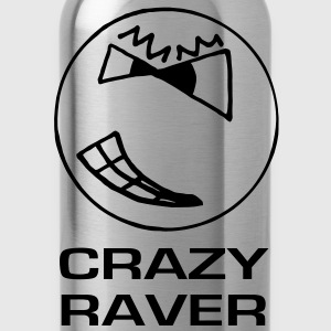 Crazy Raver Smiley Face Glow in the Dark T-shirt - Water Bottle