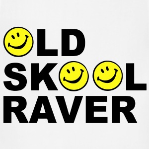 Old skool Raver 2 Colour design T-Shirts - Adjustable Apron
