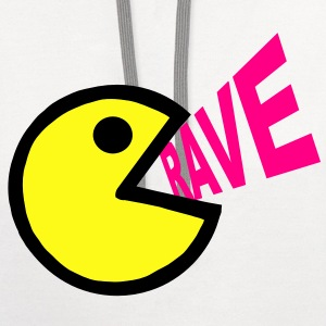 Smiley Face shouting Rave - Contrast Hoodie