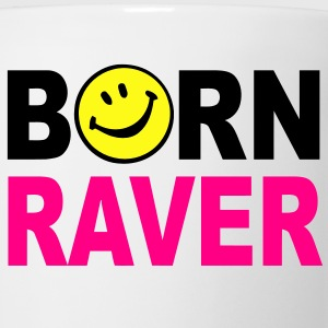 Born Smiley Face Raver Mens T-shirt - Coffee/Tea Mug