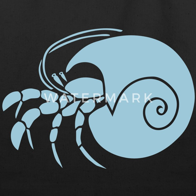 animal t-shirt hermit crab crayfish cancer shrimp prawn lobster ocean snail conch seafood sea food shellfish Bags  - Eco-Friendly Cotton Tote