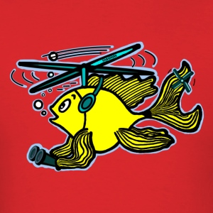 Helicopter Fish - Men's T-Shirt