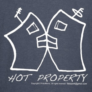 Hot Property , B-L-Ding  2 Buildings Kissing Red, By FabSpark - Vintage Sport T-Shirt