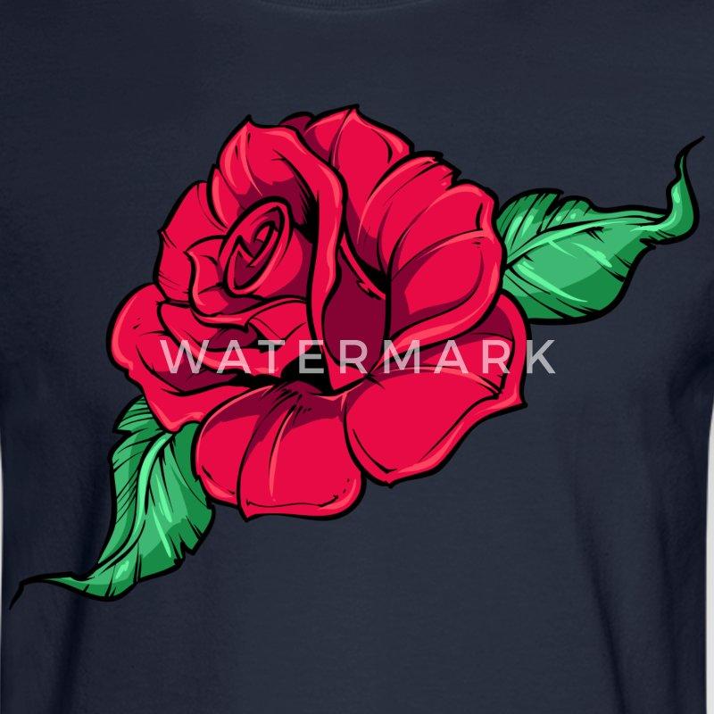 Big Rose HD Design Long Sleeve Shirts - Men's Long Sleeve T-Shirt