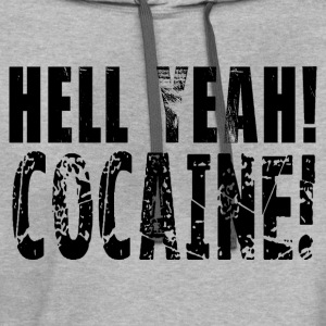 Hell yeah cocaine! HD Design T-Shirts - Contrast Hoodie