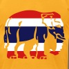 Thai Flag Elephant Crossing Sign T-Shirts - Men's T-Shirt by American Apparel