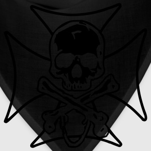biker cross  skull and crossbones Hoodies - Bandana
