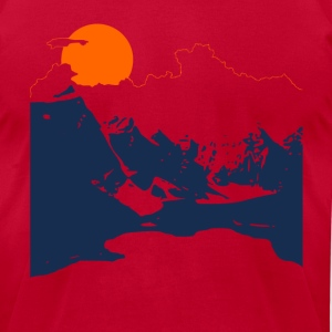 Mountains - Men's T-Shirt by American Apparel