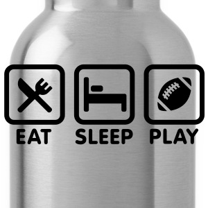 Eat Sleep Play Football / Rugby T-Shirts - Water Bottle