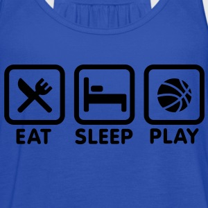 Eat Sleep Play Basketball Hoodies - Women's Flowy Tank Top by Bella