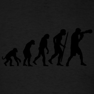 Evolution of boxing Long Sleeve Shirts - Men's T-Shirt