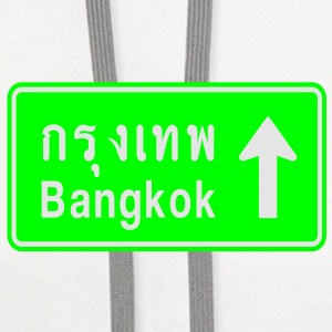Bangkok, Thailand / Highway Road Traffic Sign - Contrast Hoodie