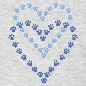 Paws Here Kid's Hooded Sweatshirt Blue Paw Prints - Men's T-Shirt