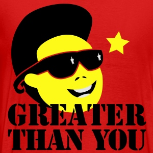 GREATER THAN YOU North korean Dictator Kim Jong il Death Hoodies - Men's Premium T-Shirt