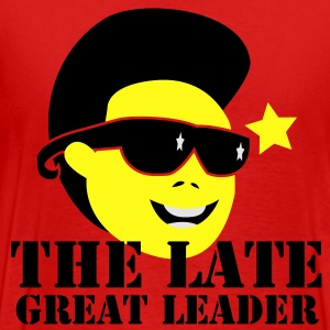 THE LATE GREAT LEADER Kim Jong Il North Korean Dictator Hoodies - Men's Premium T-Shirt