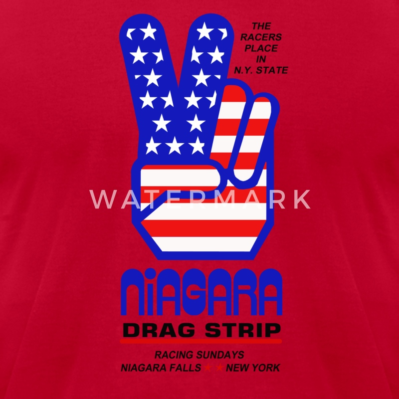 Niagara Drag Strip - Men's T-Shirt by American Apparel