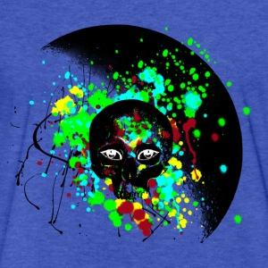 Alien Skull Grafitti Graphic - Fitted Cotton/Poly T-Shirt by Next Level