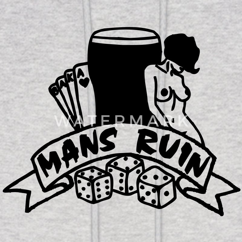 1 col mans ruin pin up girl sex drugs rock n roll Hoodies - Men's Hoodie