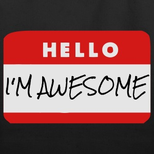 Hello, I'm Awesome T-Shirts - Eco-Friendly Cotton Tote