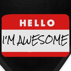 Hello, I'm Awesome T-Shirts - Bandana