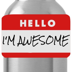 Hello, I'm Awesome T-Shirts - Water Bottle