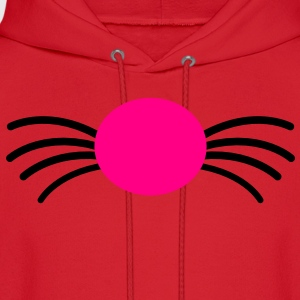 kitty cat nose with whiskers Women's T-Shirts - Men's Hoodie