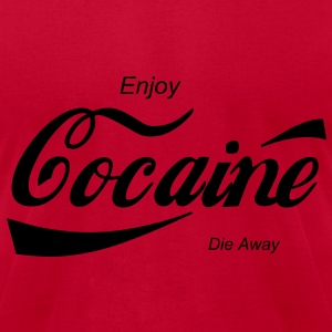 enjoy cocaine Hoodies - Men's T-Shirt by American Apparel